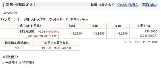 SBI証券米国株式・ETF定期買付サービス4